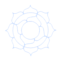 mandala blue icon